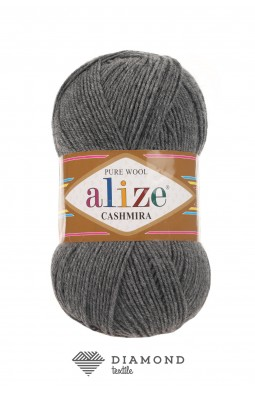 Кашемир цв.182 средне серый меланж