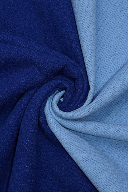 19461 Пальтовая цв.14 синий+голубой
