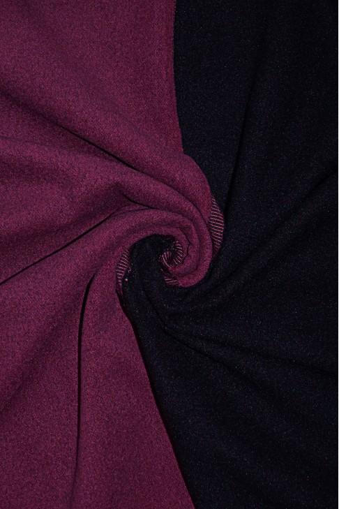19461 Пальтовая цв.11 марсала+т.лиловый