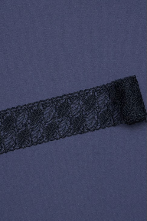 1694-2 Кружево макраме цв.черный