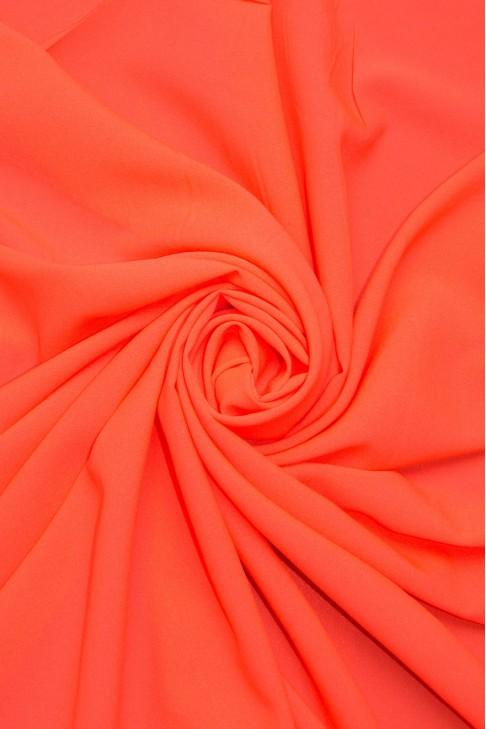 1827 Стрейч - шифон цв.27 ультра морковный