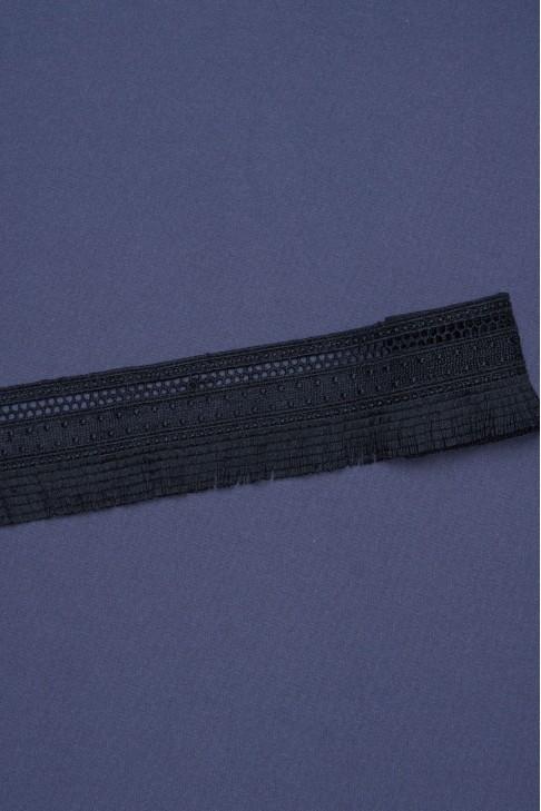 0448 Кружево макраме цв.черный