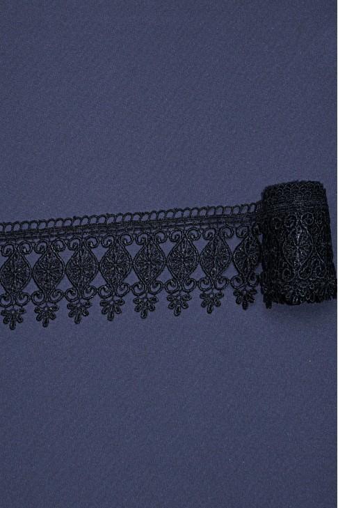 15026 Кружево макраме цв.черный
