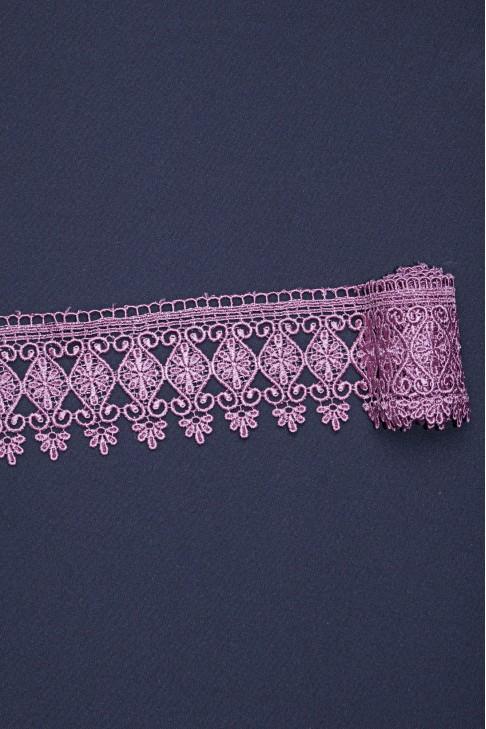 15026 Кружево макраме цв.21 рассветный розовый