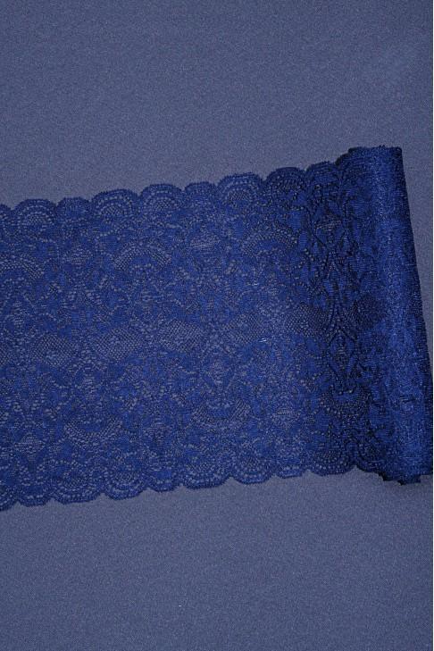 18108 Кружево стрейч цв.синий