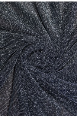 7124 Трикотаж люрекс цв.06 черного серебра