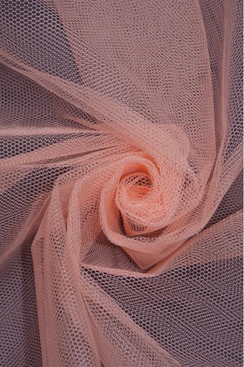 01680 Фатин жесткий цв.23 лососевый