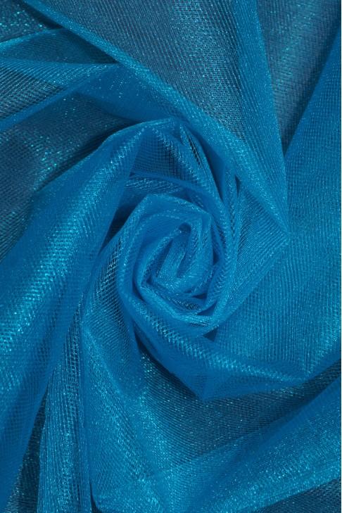 01060 Фатин с блеском цв.32 морской волны