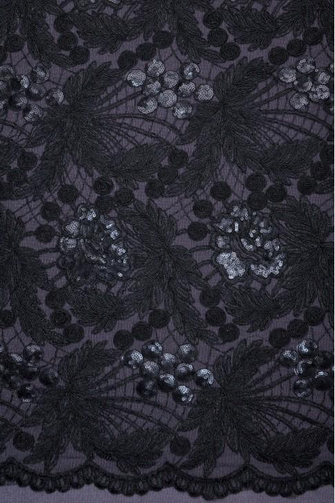 1323 Гипюр цв.черный