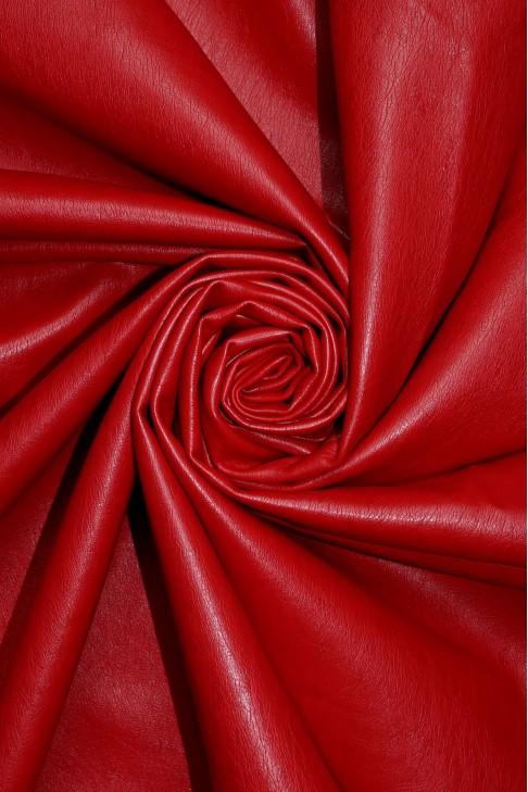 02077 Кожзам на хлопковой основе  цв. 10 красный