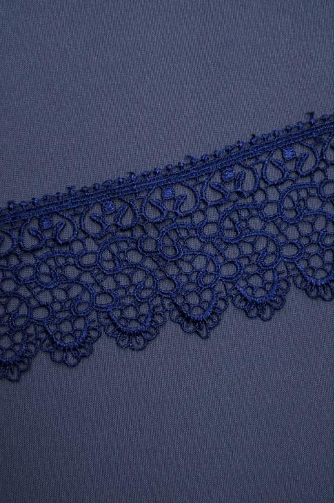 15126 Кружево макраме цв.темно-синий