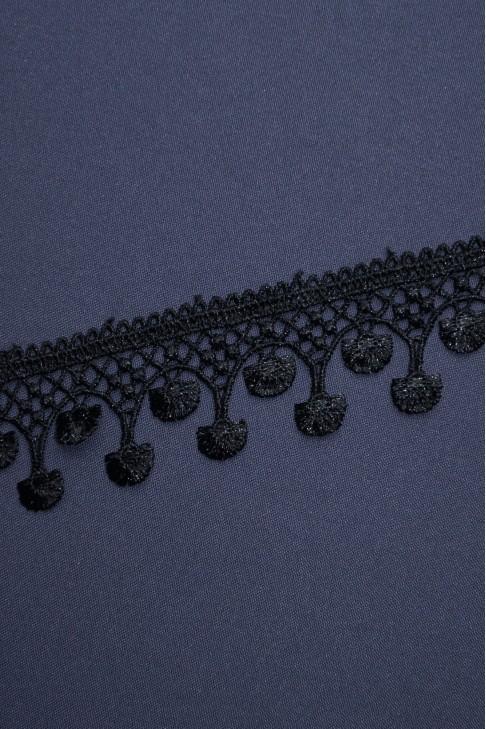 132 Кружево макраме цв.черный