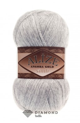 Ангора Голд Симли цв.208 светло-серый меланж