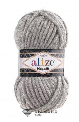 Суперлана мегафил цв.21 серый меланж