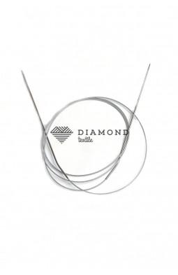 Спицы круговые Stainless steel металлические на тросе 1.5 мм - 120 см