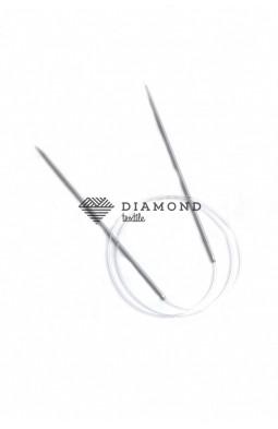 Спицы круговые Stainless steel металлические на леске 2.5 мм - 80 см