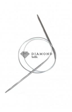 Спицы круговые Stainless steel металлические на тросе 3.0 мм - 80 см