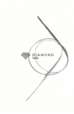 Спицы круговые Stainless steel металлические на тросе 3.5 мм - 80 см