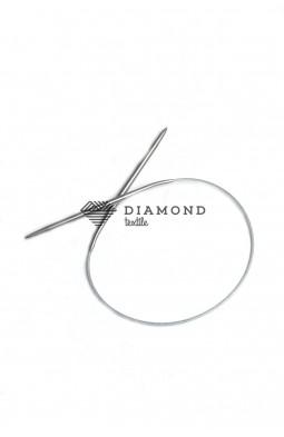 Спицы круговые Stainless steel металлические на тросе 4.0 мм - 40 см
