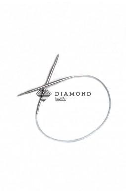 Спицы круговые Stainless steel металлические на тросе 4.5 мм - 40 см