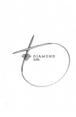 Спицы круговые Stainless steel металлические на тросе 5.0 мм - 40 см
