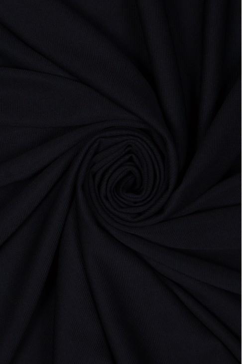 01306 Трикотаж рубчик цв.01 чёрный