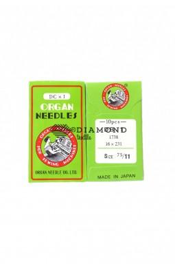 Иглы Organ Needles DBx1 №75/11 (10 шт)