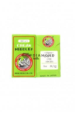 Иглы Organ Needles DBx1 №80/12 (10 шт)