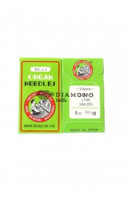 Иглы Organ Needles DBx1 №110/18 (10 шт)