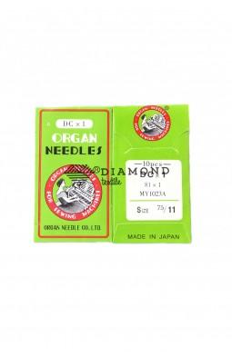 Иглы Organ Needles DCx1 №75/11 (10 шт)