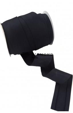 7783 Матовая косая бейка цв.черный