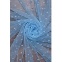 26486 Фатин евро с флоком цв.04 голубой
