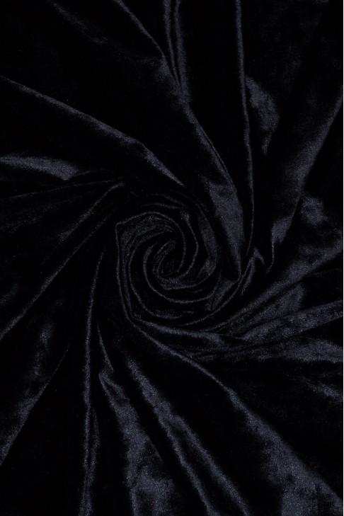 1555 Бархат цв.19 чёрный