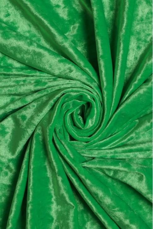 1555 Бархат цв.121 зелёный