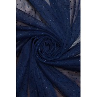 1220 Фатин с напылением цв.11 синий