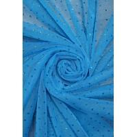 1220 Фатин с напылением цв.04 голубой