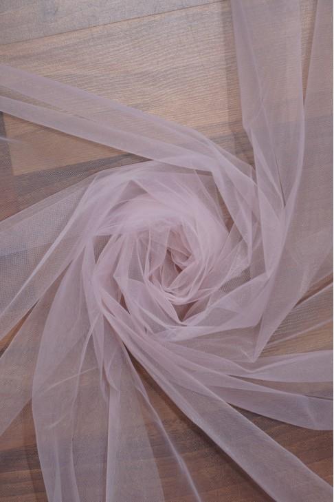 """01669 Фатин мягкий """"Свадебный"""" цв.09 бледно-розовый"""