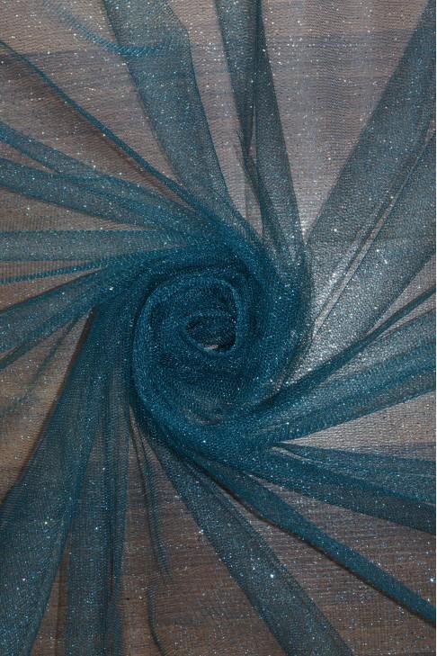 15344 Фатин с блеском цв.21 морской волны
