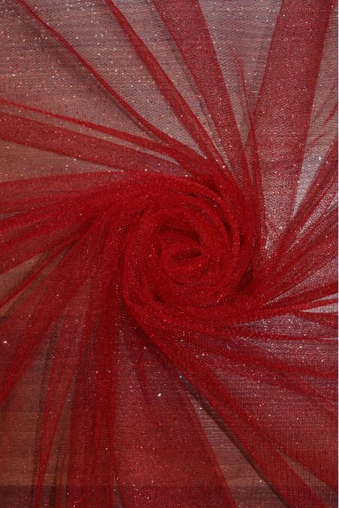 15344 Фатин с блеском цв.26 красный