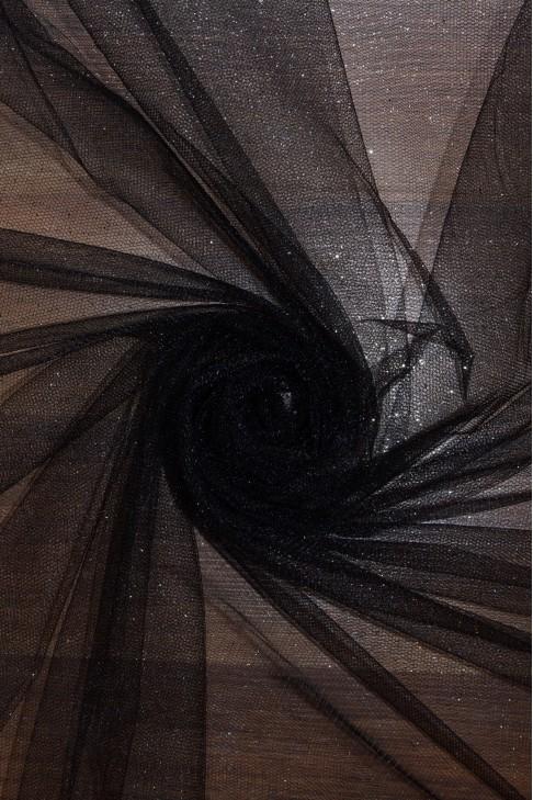 15344 Фатин с блеском цв.27 чёрный