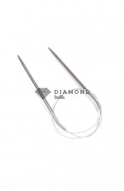 Спицы круговые Stainless steel металлические на тросе 5.0 мм - 80 см