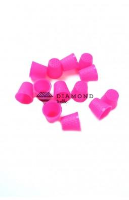 Наперсток швейный пластиковый цв.розовый