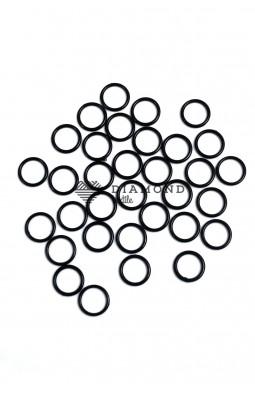 Кольцо пластик 10 мм черный