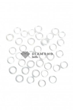 Кольцо пластик 10 мм прозразный