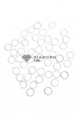 Кольцо пластик 10 мм белый