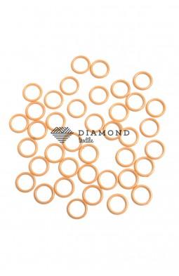 Кольцо пластик 10 мм бежевый