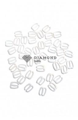 Крючек пластик 10 мм белый