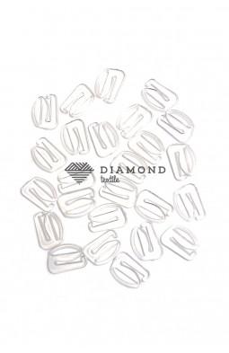 Крючек пластик 12 мм прозрачный