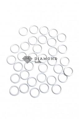 Кольцо металл 10 мм белый