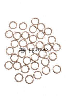 Кольцо металл 10 мм бежевый
